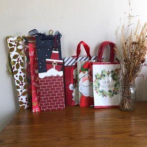 Set of Christmas Gift Bags — 11 total